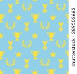 seamless pattern of the prize...   Shutterstock .eps vector #389503663