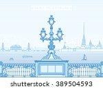 saint petersburg troitsky...   Shutterstock .eps vector #389504593