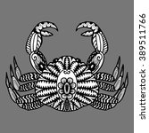 sea crab. black and white... | Shutterstock .eps vector #389511766