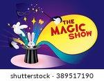 The Magic Show. Vector...