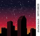 night city skyline. denver ... | Shutterstock .eps vector #389518828
