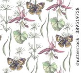 Botanical Pattern With Flowers...