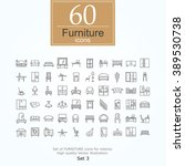 set of furniture icons for... | Shutterstock .eps vector #389530738