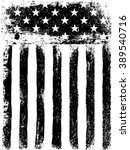 stars and stripes. monochrome... | Shutterstock .eps vector #389540716