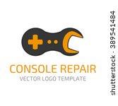 template logo repair gaming... | Shutterstock .eps vector #389541484