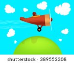 travel by airplane  vector... | Shutterstock .eps vector #389553208