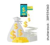 internet banking ecommerce... | Shutterstock .eps vector #389554360