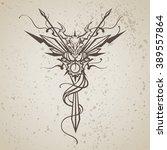 dragon totem animal vector... | Shutterstock .eps vector #389557864