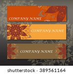 a set of leaflets business... | Shutterstock .eps vector #389561164