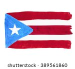 flag of puerto rico painted... | Shutterstock . vector #389561860