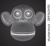 Dotwork Halftone 3d Monkey....