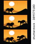 vector illustration three frame ... | Shutterstock .eps vector #389575180