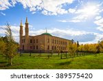 the city mosque on a bright... | Shutterstock . vector #389575420
