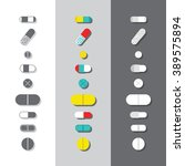 vector drugs icons  pills ... | Shutterstock .eps vector #389575894