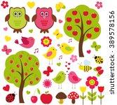 vector set of nature. love... | Shutterstock .eps vector #389578156