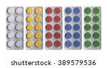 pills in blister packs isolated ... | Shutterstock . vector #389579536