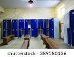 locker room in the gym | Shutterstock . vector #389580136