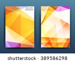 vector business brochure ... | Shutterstock .eps vector #389586298