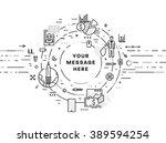 flat style  thin line art... | Shutterstock .eps vector #389594254