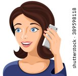 vector illustration of a woman... | Shutterstock .eps vector #389598118