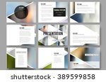 set of 9 vector templates for... | Shutterstock .eps vector #389599858