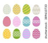 easter egg vector icon set in... | Shutterstock .eps vector #389610733