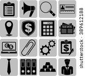 16 businessicon set. minimal...   Shutterstock .eps vector #389612188