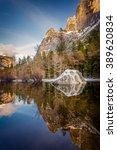 Yosemite Mirror Lake At Sunset