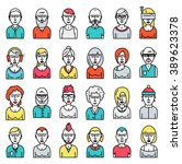 set of people avatars for... | Shutterstock .eps vector #389623378