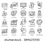 thin line icons set. business... | Shutterstock .eps vector #389625550