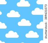 white clouds seamless | Shutterstock .eps vector #389631073