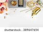 gold   black. header website or ... | Shutterstock . vector #389647654