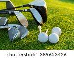 golf ball and golf club   Shutterstock . vector #389653426