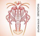 graphic vector crayfish drawn... | Shutterstock .eps vector #389659546