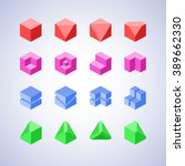 minimalist style geometric logo ... | Shutterstock .eps vector #389662330