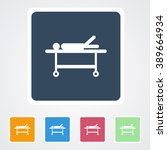 square flat buttons icon of... | Shutterstock .eps vector #389664934