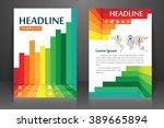abstract vector modern flyers... | Shutterstock .eps vector #389665894