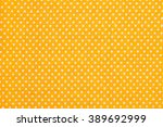 orange and white tablecloth... | Shutterstock . vector #389692999