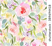 Seamless Pattern With Abstract...