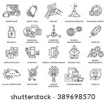 thin line icons set. business... | Shutterstock .eps vector #389698570