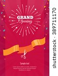 grand opening vertical banner.... | Shutterstock .eps vector #389711170