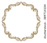 vintage baroque frame scroll... | Shutterstock .eps vector #389714104