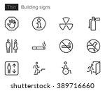 building signs vector icons set ... | Shutterstock .eps vector #389716660