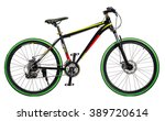 mountain bicycle on white... | Shutterstock . vector #389720614