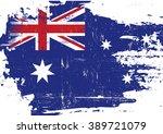 australian scratched flag. an... | Shutterstock .eps vector #389721079