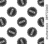 beer bottle cap icon seamless...