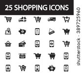 shopping and sale icon set | Shutterstock .eps vector #389725960