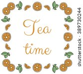 square frame tea traditions... | Shutterstock . vector #389730244