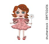 beautiful fairy cute cartoon... | Shutterstock .eps vector #389732656