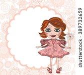 beautiful fairy cute cartoon... | Shutterstock .eps vector #389732659